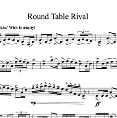 YEEEES!!!!!!!!! ROUNDTABLE RIVAL VIOLIN SOLO SHEET MUSIC IS AVAILABLE!!!!! I NEED IT RIGHT NOW!!!!!!!!!!