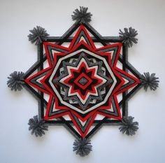 A handmade mandala Ojo de Dios (Eye of God), inspired by the Navajo Nation and the Huichol Indians of Mexico. Approximately 12 inches, 8-sided, woven on 4 sticks using acrylic yarn. Please feel free to contact me with any question. Thanks for looking.