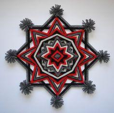 Navajo Dream 12 Ojo de Dios Yarn Mandala por HighDesertAlchemy                                                                                                                                                                                 Más