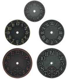 Time for @Tim Harbour Holtz embellishments :) #clocks #gears
