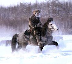 Yegor Makarov's photographs of Yakutian horse riders, Siberia