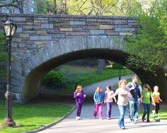 stone pedestrian bridges   West 65 Street Arch Bridge over Pedestrian Path, Central Park, New ...