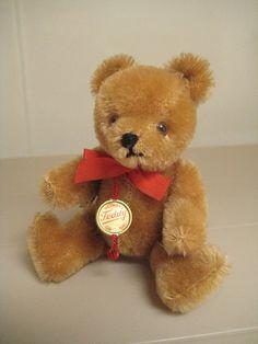 In my #ETSY Shop: #Hermann Vintage #Teddy Bear - Born in the 1980s – Gold #Mohair - #TeddyBar