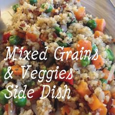 Side dish made with rice, couscous, and veggies! Gets delicious and crispy just like paella. Also a great use-up for leftover rice/couscous/quinoa/other grains!