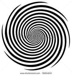 vector - Hypnosis Spiral Design Pattern. Concept for hypnosis, unconscious, chaos, extra sensory perception, psychic, stress, strain, optical illusion, headache, migraine. EPS8 compatible. - stock vector