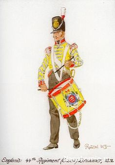 Drummer, 44th regiment of Foot post 1812