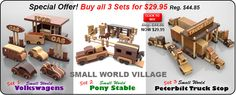 Buy all three Small World toy plan sets for One Low Price!