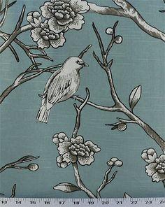 Vintage Blossom Jade Fabric