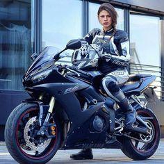 "motorcycles-and-more: ""Biker girl on Yamaha R6"""