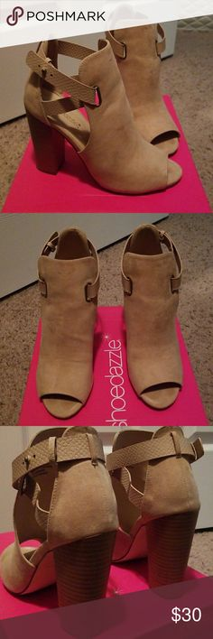 Heels Shoedazzle Taupe heels Shoe Dazzle Shoes Heels