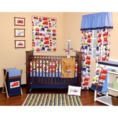 Bacati 10-pc. Transportation Crib Set, Multicolor