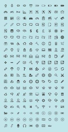 アウトラインデザインのフリーアイコンセットまとめ「1000+ Free Outline Stroke Icons For Designers」   DesignDevelop