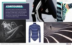 Print and Pattern - CONTOURED - fluid and uniform multipal stripes + illusionery body silhouette / form