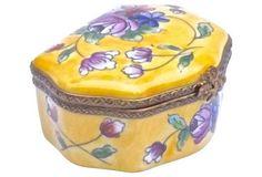 Porcelain Floral Themed Limoges Box
