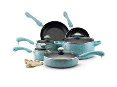 Paula Deen Cookware Sets Best Nonstick Porcelain 15-Piece Kitchen Set Paula Dean #PaulaDeen