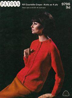 "Free Vintage Knitting Pattern: Cardigan ""Trimmed Classic"" in 4 ply – Vintage Knitting Pattern Archive Easy Knitting, Knitting Patterns Free, Free Pattern, Crochet Patterns, Quick Knits, Sixties Fashion, Cardigan Pattern, Stunningly Beautiful, Vintage Knitting"