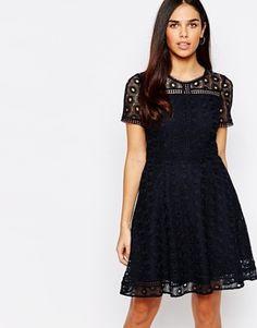 Warehouse Lace Skater Dress