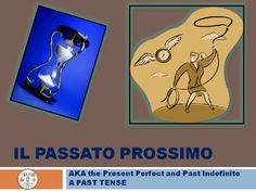 This file is a simple introduction to the past tense using avere for beginning Italian students.Stresses the passato prossimo as a compound tense with examples in Science, Italian and English. Illustrates usages of this tense including negatives and interrogatives and has one slide of clue words.