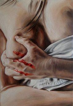 Strappo  Olio su tela  Sebastiano Topo  http://www.facebook.com/pagesSebastianoTopo