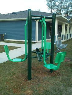 Outdoor Fitness Equipment for seniors at an apartment complex. From DunRite Playgrounds. http://www.dunriteplaygrounds.com