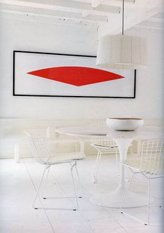 Saarinen Table shown with Bertoia Chairs from DWR in the Press