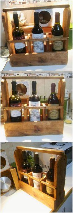 Pallet Wine Bottles Holder