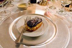 Chocolate painted eclairs with french vanilla cream