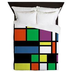 Mondrian Inspired Queen Duvet