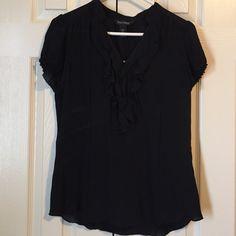 Blouse Black shirt sleeves shear blouse. White House Black Market Tops Blouses