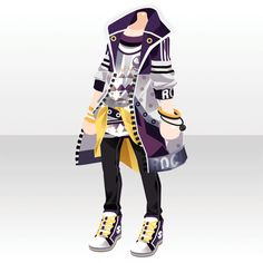 DreiEck TriStar|@games -アットゲームズ- Punk Outfits, Anime Outfits, Boy Outfits, Japanese Uniform, Drawing Clothes, Outfit Drawings, Hand Accessories, Purple Hands, Cool Face