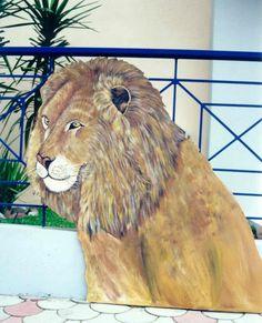 ΖΩΓΡΑΦΙΚΗ ΓΙΑΝΝΗΣ ΓΕΩΡΓΙΑΔΗΣ: ΖΩΓΡΑΦΙΚΗ ΖΩΩΝ Lion, Painting, Animals, Art, Leo, Art Background, Animales, Animaux, Painting Art