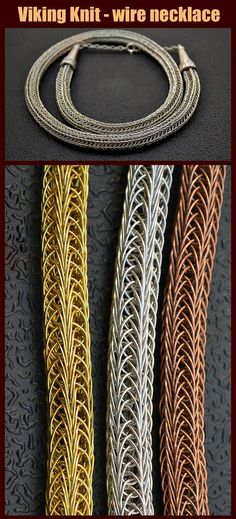 Viking Knit jewelry, Viking Knitting, Viking Knitters, Viking Knit jewelry tutorials PDF, wire necklace, wire wrap bracelet The book has 120 pages, more than 180 high-resolution photos. As always, there are many photos in good quality, that consistently explain the whole process of creating jewelry. I made similar ornaments from copper wire, wire from nickel silver, brass, bronze and sterling silver. Valeriy Vorobev