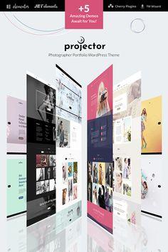 WordPress Template , Projector - Photographer Portfolio Multihome
