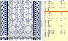 66 cards, 4 colors, repeats every 24 rows, Ravelry: PrincessDelirium's Marijke Card Weaving, Weaving Art, Loom Weaving, Basket Weaving, Inkle Weaving Patterns, Loom Patterns, Finger Weaving, Inkle Loom, Weaving Projects
