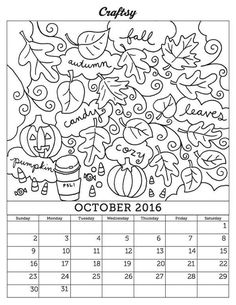 FREE April 2016 Coloring Page Calendar April showers Coloring