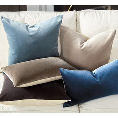 "Signature Velvet & Linen Pillow - 20"""