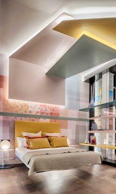 Futuristic Bedroom, Futuristic Interior, Modern Bedroom Decor, Stylish Bedroom, Best Interior, Interior Design, Home Ceiling, Girl Bedroom Designs, Aesthetic Rooms