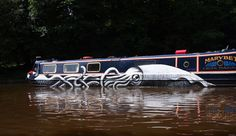 Giant Squid Canal Boat by Phlegm