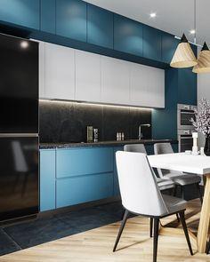 30 Best Ideas For Your Modern Kitchen Design Modern Kitchen Cabinets, Kitchen Cabinet Colors, Modern Farmhouse Kitchens, Kitchen Flooring, Plywood Kitchen, Oak Cabinets, Kitchen Colors, Rustic Kitchen, Kitchen Design Gallery