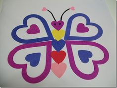 heart crafts, valentine crafts, butterflies, heart shapes, bug crafts, applique patterns, paper patterns, crafts to try, kid