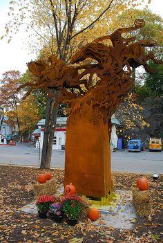 Sleepy Hollow new york Headless Horseman Sculpture