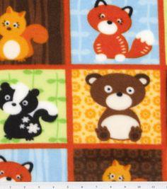 Nursery Fabric-Forest Babies Patch Fleece: nursery fabric: fabric: Shop | Joann.com