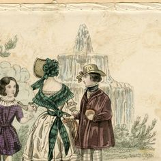 Children's fashions, Summer 1840 :: Fashion Plate Collection, 19th Century