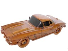 1962 62 Corvette Hard Top Classic Mahogany Wood Wooden Desk Model Sports Car by MilitaryMahogany on Etsy