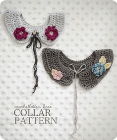 crochet: Free pattern for cute crochet collars @ crochetlatte
