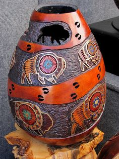"*Gourd Art - ""Disappearing Icon"" by Denny Wainscott"