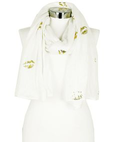 Look what I found on #zulily! Ivory & Gold Kiss Off Scarf by Betsey Johnson #zulilyfinds