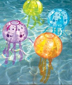 Pool Inflatable Jellyfish 32x15 Light Battery Off Lights Unique JellyFish Color #Inflatable