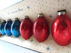 Paragon Christmas Tree Ornaments in Red and by LolaandRettsdelight, $14.00