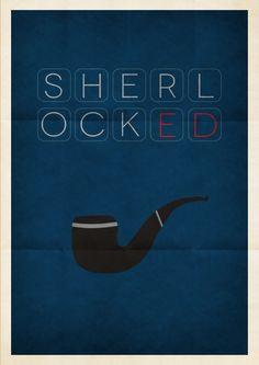 Sherlock (2010–) ~ Minimal TV Series Poster by Kenzo Giunto